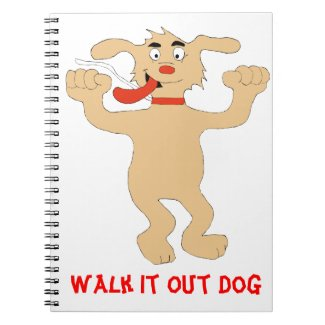 Hip Hop Cartoon Dancing Dog Notebook