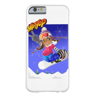 Hip Hop Cartoon Girl on Snowboard Barely There iPhone 6 Case