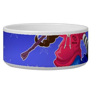 Hip Hop Cartoon Girl on Snowboard Bowl