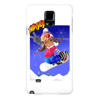 Hip Hop Cartoon Girl on Snowboard Galaxy Note 4 Case