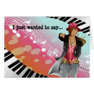 Hip Hop Chick Set Greeting Card
