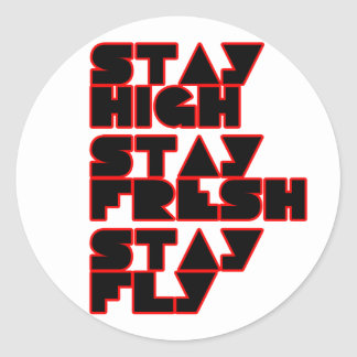 HIP HOP CLASSIC ROUND STICKER