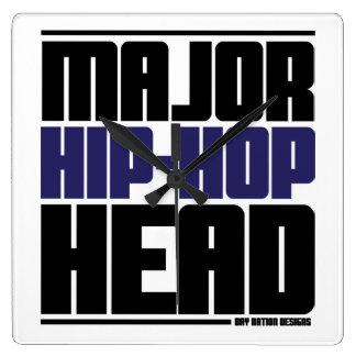 Hip Hop Square Wallclock