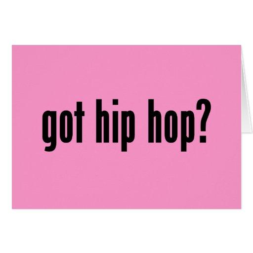 ¿hip-hop conseguido? tarjeta de felicitación