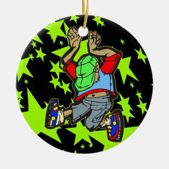 Hip Hop Dance Ceramic Ornament