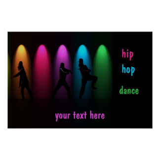 Hip hop dance posters zazzle hip hop dance girls on stage poster template yadclub Images