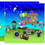 Hip Hop Dance Life Kid's Party Invite