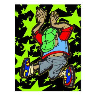 Hip Hop Dance Postcard