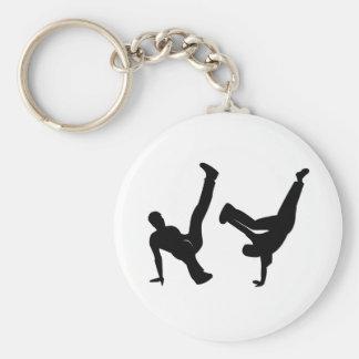 hip hop dancer basic round button keychain