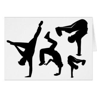 hip hop dancer card