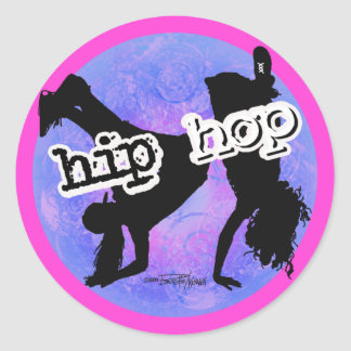HIP HOP Dancer Classic Round Sticker