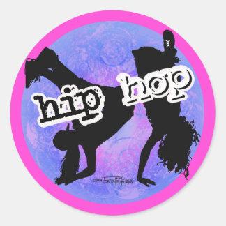 HIP HOP Dancer Classic Round Sticker