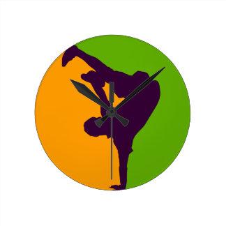 Hip Hop Dancer Round Wallclock