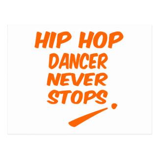 Hip Hop dancer Never Stops Postcard