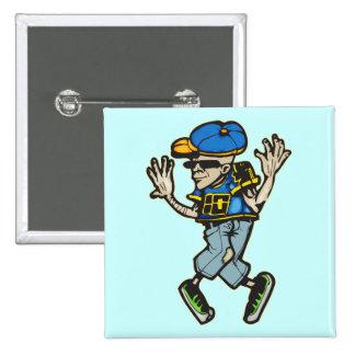 Hip Hop Dancer Pinback Button