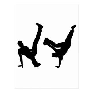hip hop dancer postcard