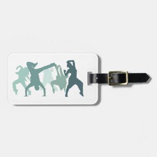 Hip Hop Dancers Illustration Bag Tag