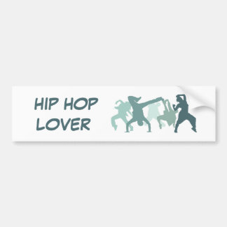 Hip Hop Dancers Illustration Car Bumper Sticker