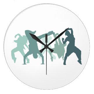 Hip Hop Dancers Illustration Clocks