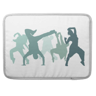 Hip Hop Dancers Illustration MacBook Pro Sleeve