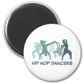 Hip Hop Dancers Illustration Magnet