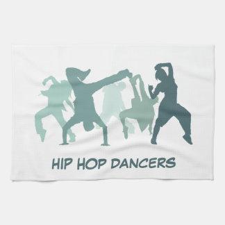 Hip Hop Dancers Illustration Towel