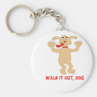 Hip Hop Dancing Cartoon Dog Keychain