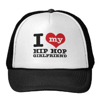 Hip Hop dancing Girlfriend designs Trucker Hat