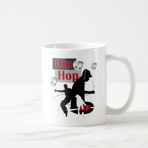 Hip Hop Dancing silloette final Classic White Coffee Mug