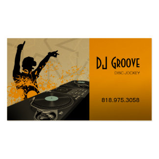 Hip Hop DeeJay Disc Jockey - Music Business Card