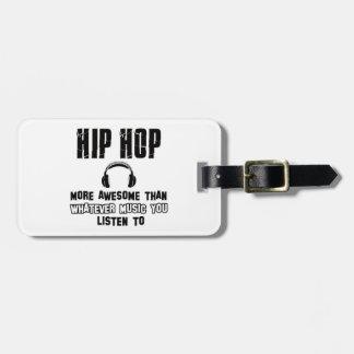 hip hop design luggage tags