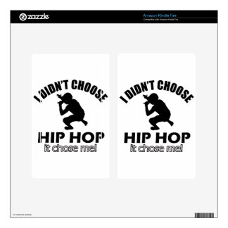 Hip Hop designs Decals For Kindle Fire