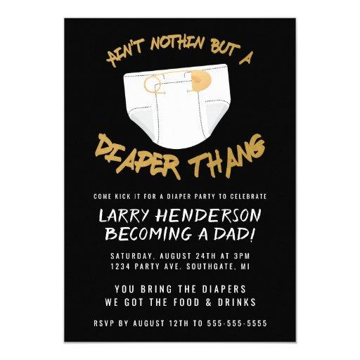 Hip Hop Diaper Party Invitation
