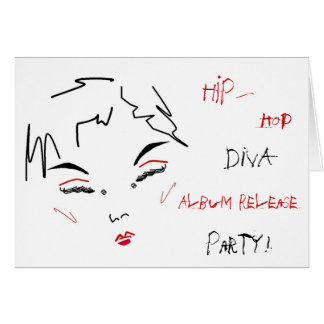Hip-Hop Diva Album Release Party Greeting Card