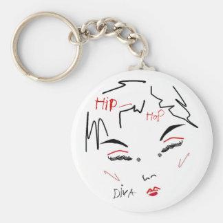 Hip-Hop Diva Keychain