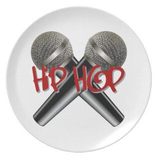 Hip Hop - el rap DJ de la bujía métrica golpea el  Platos Para Fiestas