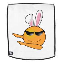 Hip Hop Emoji Egg Bunny Easter Kids Adult Backpack