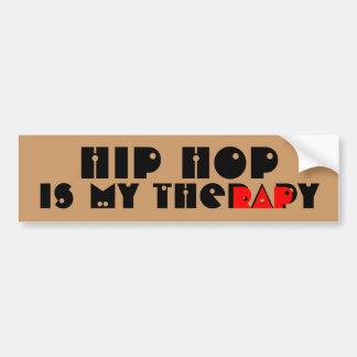 Hip Hop es mi terapia Pegatina Para Auto