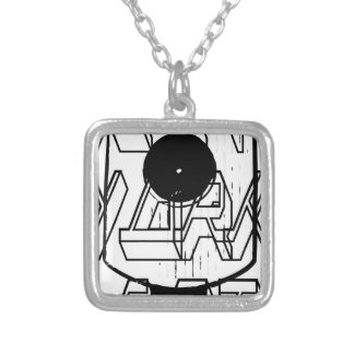Hip Hop Fat Cap Silver Plated Necklace