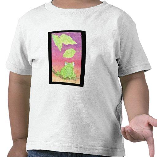 hip hop frog on black t-shirts