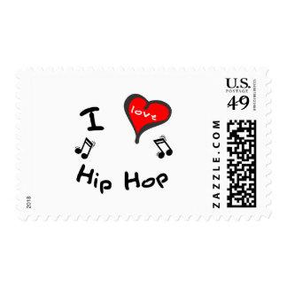 Hip Hop Gifts - I Heart Hip Hop Postage Stamp