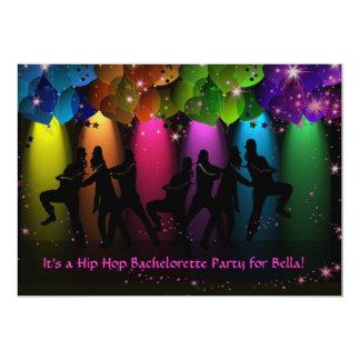 "Hip Hop Girl Bachelorette Custom Invitation 5"" X 7"" Invitation Card"