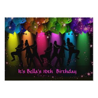 "Hip Hop Girl Birthday Custom Invitation 5"" X 7"" Invitation Card"