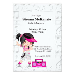 Hip hop girl invitation