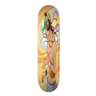 Hip Hop Girl Skateboard