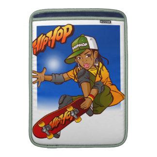 Hip Hop girl skateboard Cartoon Sleeve For MacBook Air