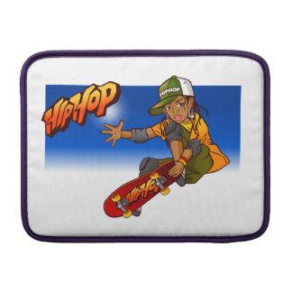 Hip Hop girl skateboard Cartoon MacBook Sleeves