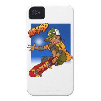 Hip Hop girl skateboard Cartoon iPhone 4 Cover