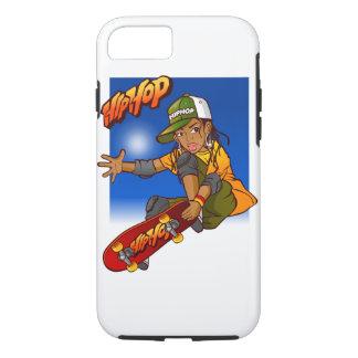 Hip Hop girl skateboard Cartoon iPhone 7 Case