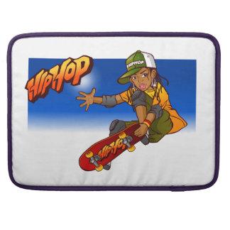 Hip Hop girl skateboard Cartoon Sleeves For MacBook Pro